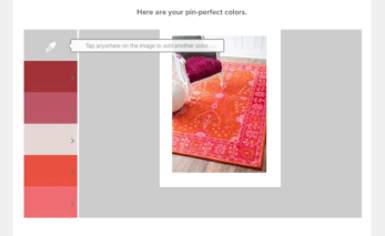 Valspar + Pinterest: Pin Color Analyzer- LWCD post pin Sizzling Orange & Pink