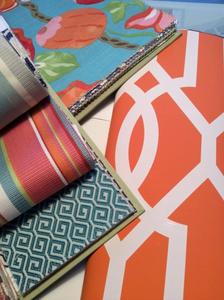 Living With Color Designs by Marianne Millikan-- Fabric and Wallpaper samples