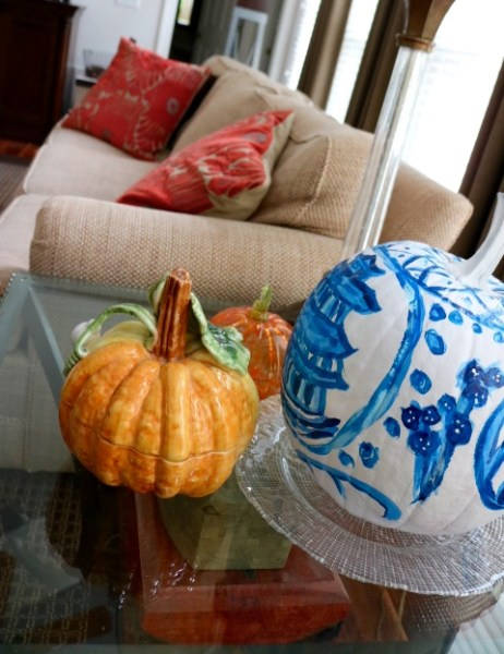Chinoiserie Pumpkin: Living With Color Designs Blog- At Home