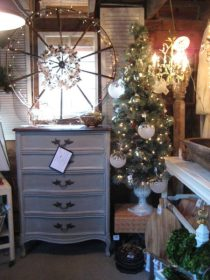 Chartreuse Barn Grey Chalk paint chest