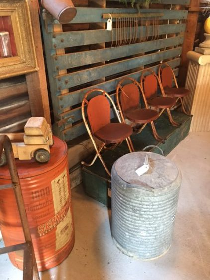 Chartreuse Barn Sale- Child sized vintage chairs