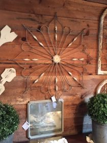 Chartreuse Barn- Snowflake from repurposed wrought iron