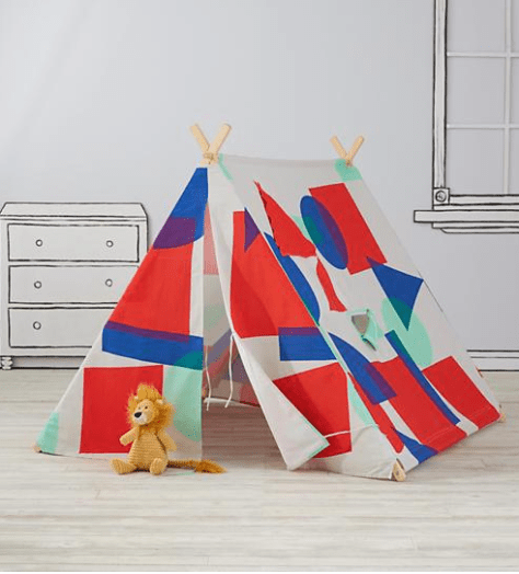 playhouse with bright vibrant shapes: Teepees & Indoor Playhouses