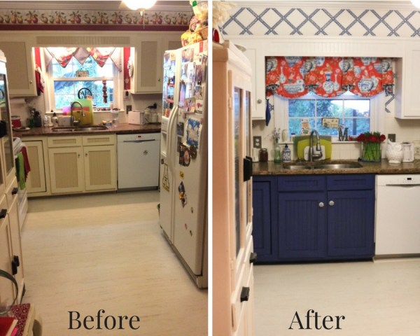 Before and After - Blue And White Kitchen: Living With Color Designs