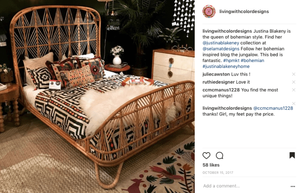 Bohemian Style Bed Living With Color Designs Instagram