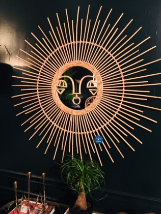 Aye Sun Face Rattan Mirror - Justina Blakeney Rocks Our Bohemian World by Living With Color Designs Blog