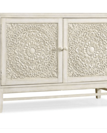 Intricately carved two door cabinet - Ah Home