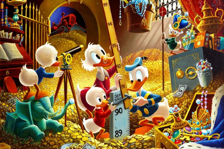 Scrooge McDuck Carl Barks For Disney Donald Duck With Huey Duey And Louie