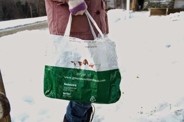 Shopping Bag from Re-purposed Grain Bag