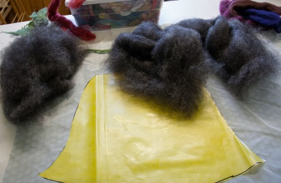 Felting with a Resist