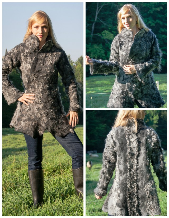 Jenny Hill and Kim Goodling Gotland Felted Wool Coat