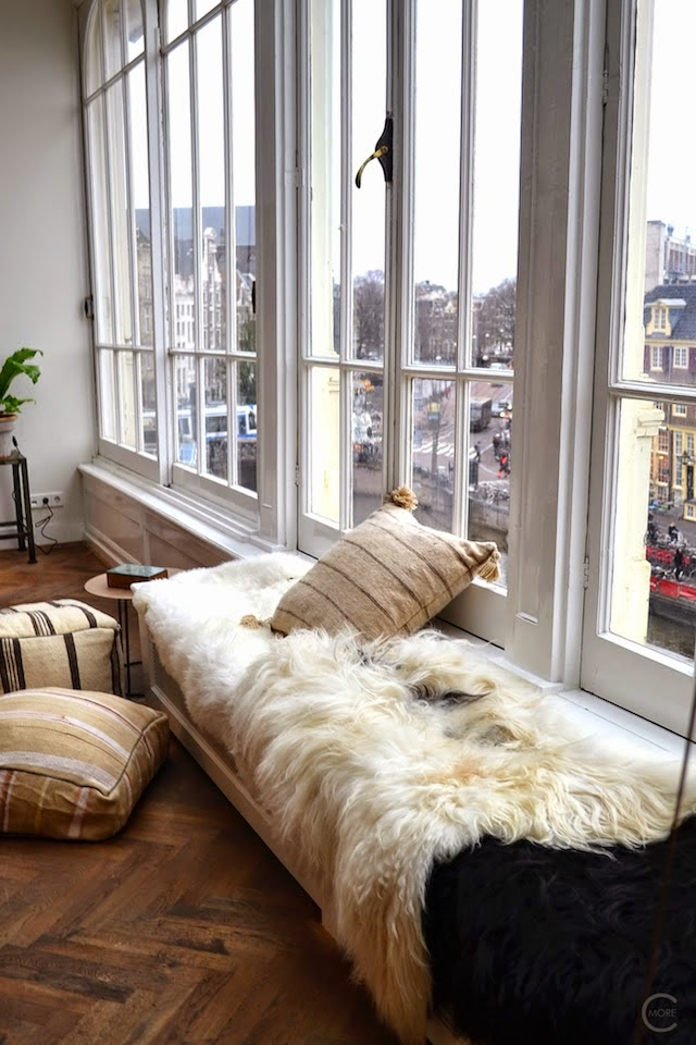 amsterdam loft sitting area by the window