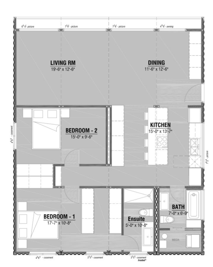Watch the honomobo modern shipping container home get for Shipping container garage floor plan