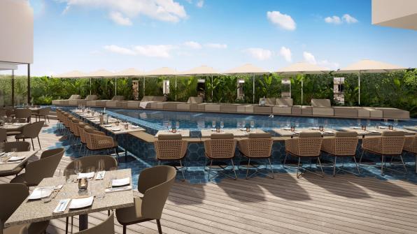 Sir Joan + IZAKAYA Restaurant terrace render