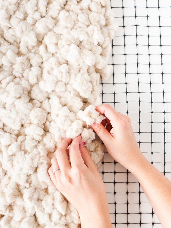 diy fluffy cotton rug 5