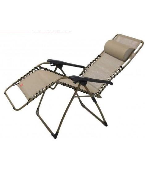 lisa b en acier peint et couleur au choix en fauteuil relax inclinable texfil transat exterieur pliant a la maison ou au contrat