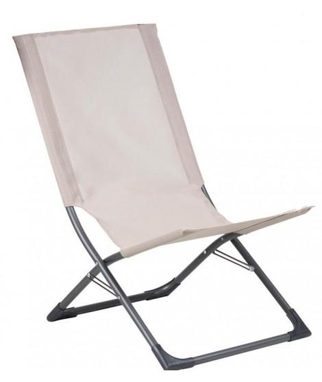 bacon fauteuil relax en acier peint et tissu texfil pour l exterieur ou la maison