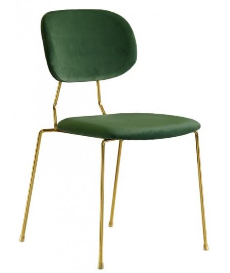biter choix de couleur en velours et structure en chaise en metal dore pour la maison ou la conception de contrat