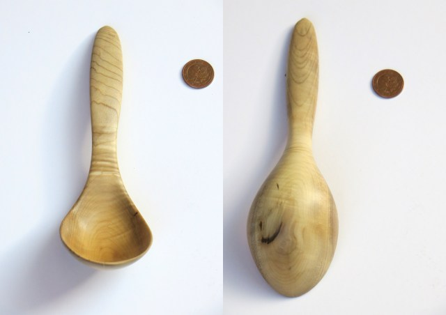 Curly magnolia serving spoon