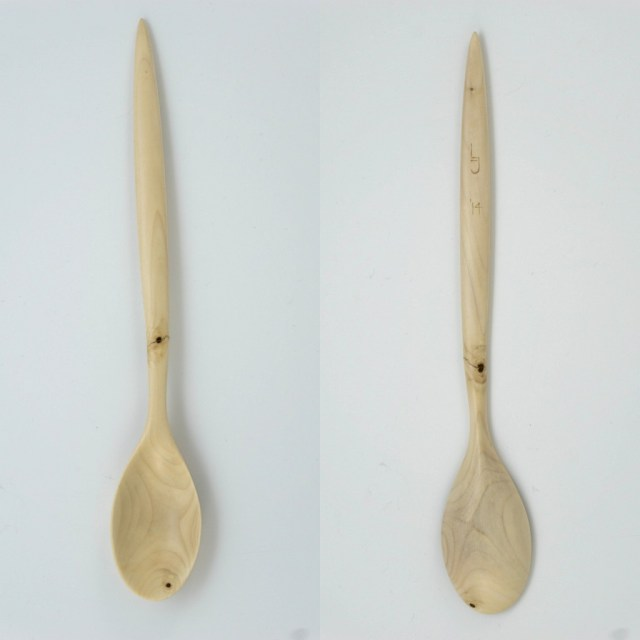 Tulip poplar cooking spoon
