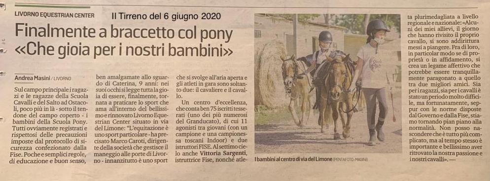 Il Tirreno 06/06/2020