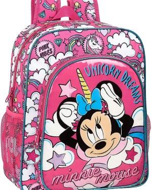 Mochila escolar Minnie Unicorns SAFTA