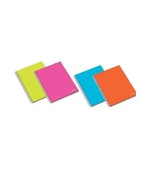Caderno A4 pautado espiral de120 folhas com capa dura AMBAR (1 unidade)