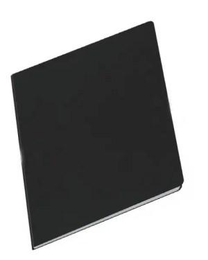 Caderno A4 capa preta agrafado 80 folhas liso