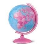 Globo Terrestre iluminado Rosa 25 cm