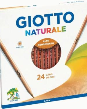 Lápis de cor 24 cores Naturale GIOTTO