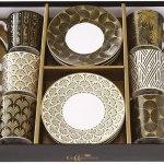 Set 6 chávenas e pratos porcelana Egypt Easy Life