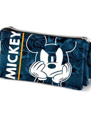 Estojo triplo Mickey Blue
