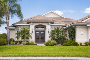 exterior of florida home with beautiful curb appeal
