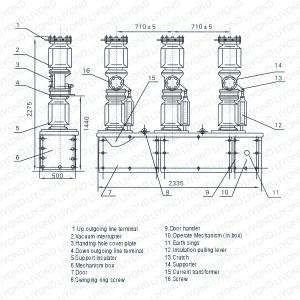 ZW7405KV Series Outdoor HV Vacuum Circuit Breaker