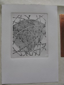 This is the first print from my second etching plate.