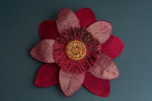 Red and recycled flower