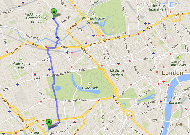 Collingham Gardens to Maida Vale