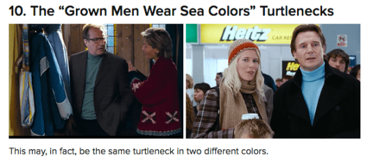 Love Actually turtle-necks
