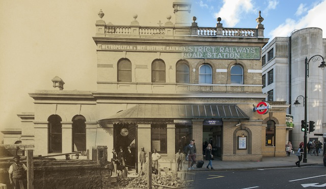 Gloucester Road Station 1868 + 2014