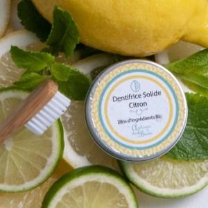 dentifrice solide citron