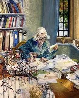 Dorothy Hodgkin by Maggi Hambling, 1985