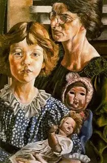 Hilda, Unity and Dolls by Stanley Spencer, 1937
