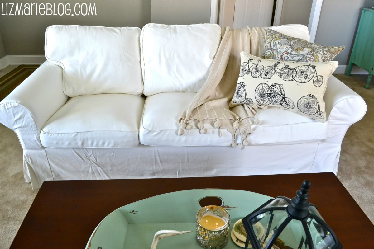 New White Slipcover Ikea Couches - Liz Marie Blog