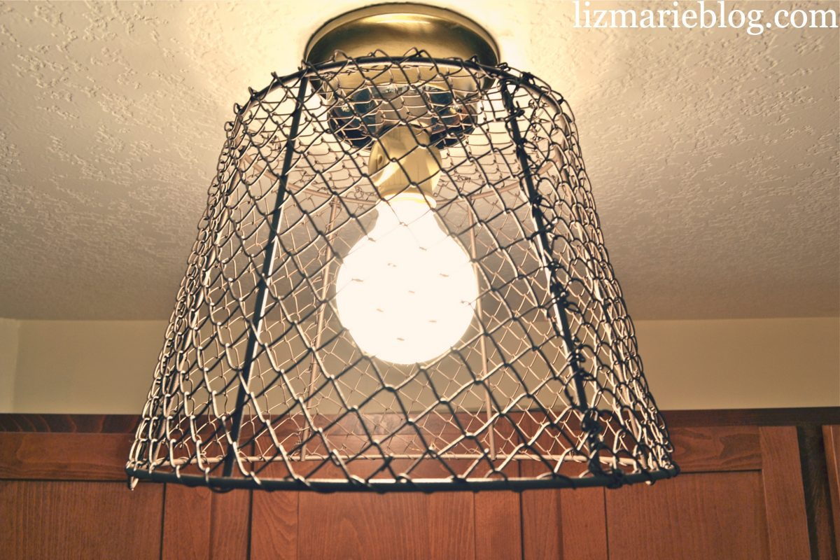 diy wire basket light liz marie blog rh lizmarieblog com DIY Wire Basket Light Fixture Vintage Crab Trap Wire Light