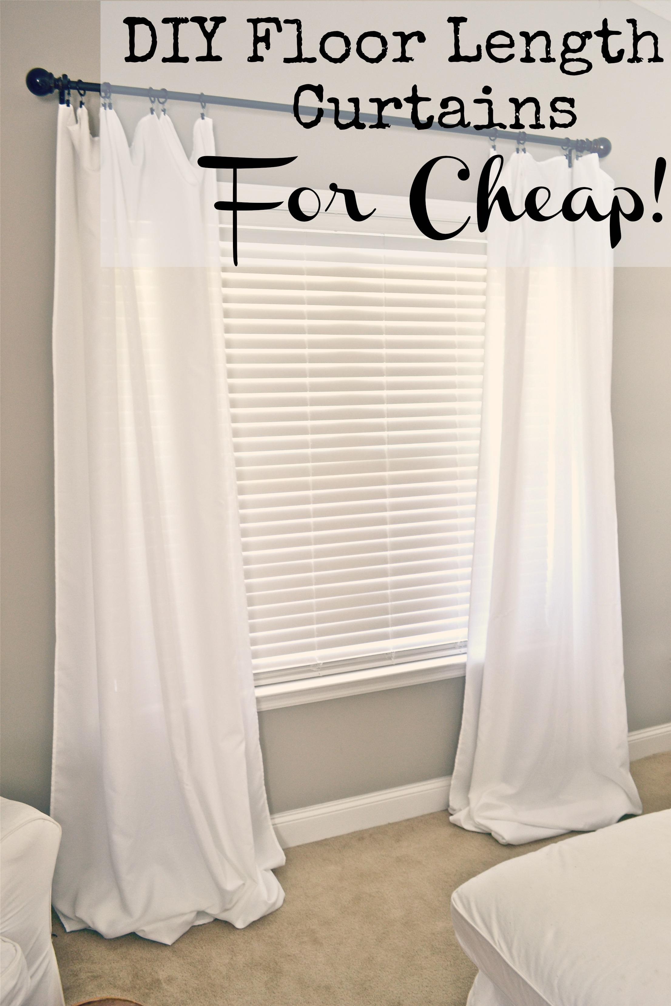 DIY Floor Length Curtains  Hey guys. DIY Floor Length Curtains   Liz Marie Blog