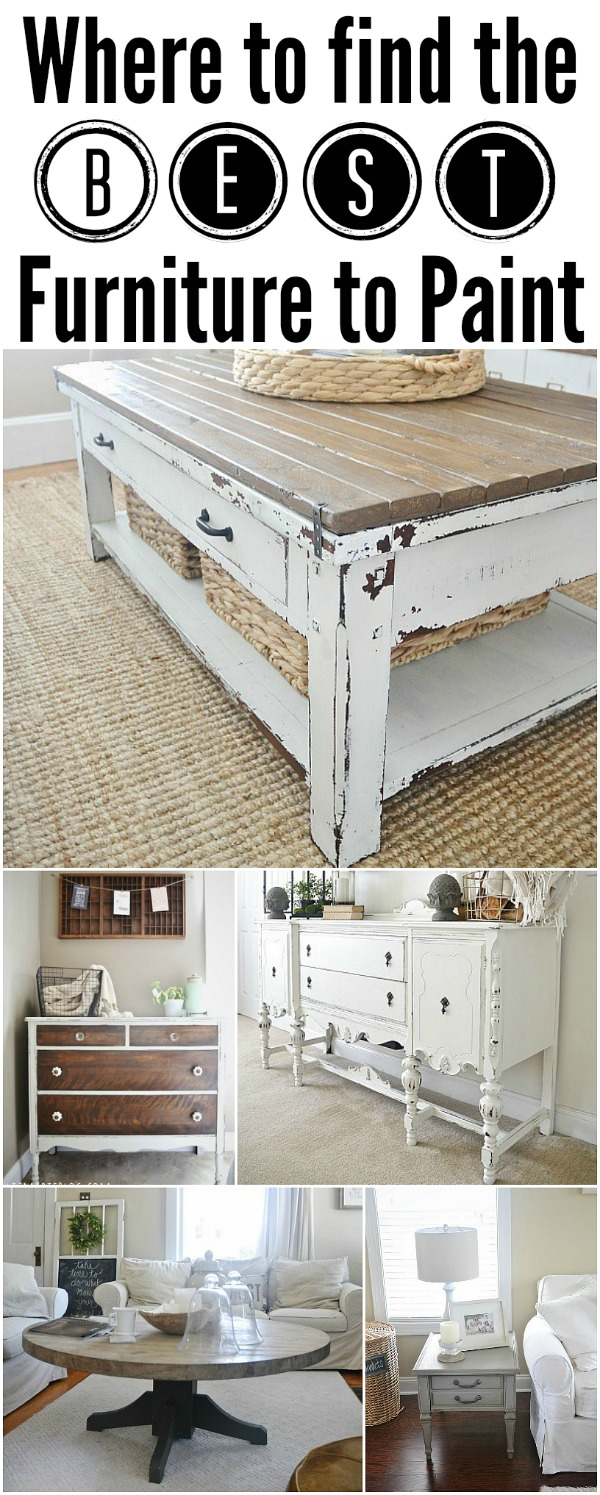 Tips   Tricks on where to find the best project furniture. Where to find Furniture to paint  lizmarieblog com