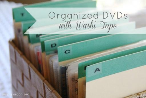 dvd washi tape labels main image