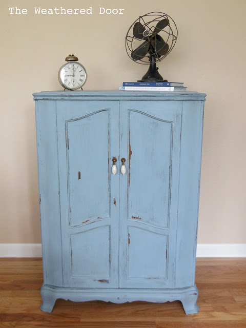 French Slate Blue RCA Cabinet WD 1