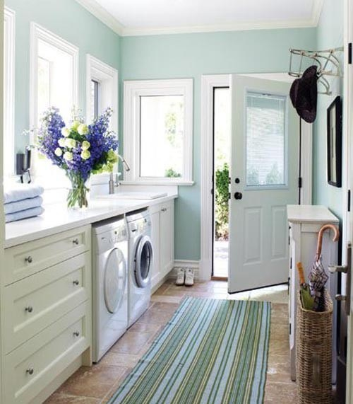 Lovely sunroom laundry room