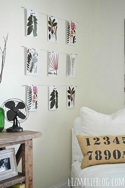 DIY Wire art display - lizmarieblog.com